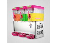 Hot Cold Drink Beverage Milk Juice Dispenser Machine Commercial 18L*3Tank