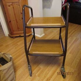 MOBILITY TROLLEY/WALKER FOR FOOD AND DRINK ETC (FULLY ADJUSTABLE)