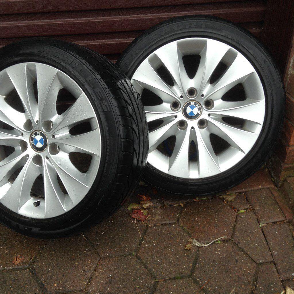 bmw wheels x4 &tyres plus 2 snow tyres 225 x4.5 zr x17