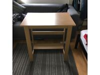 Pine effect desk for collection