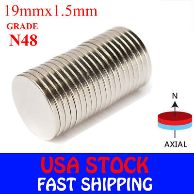 Neodymium Magnet Kit - Strong Round Disc Magnets Rare-Earth Neodymium Cylinder Magnet Kit 3/4