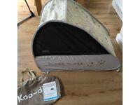 """Koo-di"" Sun & Sleep Pop-Up Travel Bubble Cot. Excellent condition."