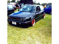 vw golf mk3 gti air ride rota grids show car