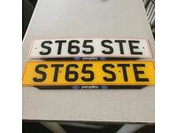 Personalised number plate Ste Ford Focus st