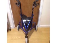 Perfect Condition Lightweight Aluminium Tri Wheel Walker