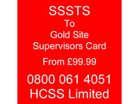 SMSTS to Black Manager Card or SSSTS to Gold Supervisors Card from £99.99 – No NVQ, No courses,.