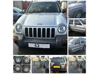 Jeep Cherokee 2.5 Diesel CRD Sport 2003 Silver Bonnet All Parts Available