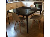 Black Glass Ikea Dining Table