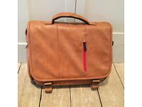 Laptop Messenger Bag in Brown Leather (by Snugg)