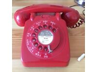 Red Rotary Phone. Original . Collection only