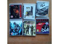 Six PS3 Games
