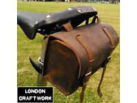 New Bicycle Saddle Handlebar Bag Genuine Leather Vintage for Brooks / Brompton