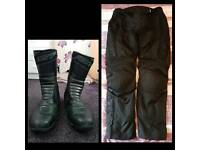 RST Motorbike Boots and Trousers