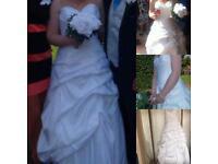 Size 12 White Mori Lee Wedding Dress
