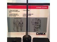 CYBEX ARM CURL and Seperate TRICEP EXTENSION Used professional Gym Equipment 170kg