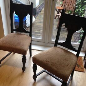 2 beautiful carved Victorian chairs