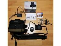 Canon EOS 750D Digital SLR Camera with 18-55mm lens, Canon Custom Bag & Slik 330DX Tripod