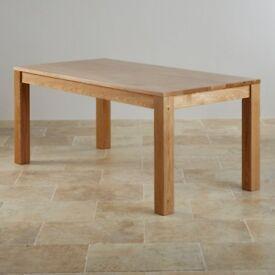 Oakdale Natural Solid Oak 6ft x 3ft Dining Table (Oak Furniture Land £549) - EXCELLENT CONDITION