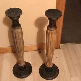 solid wood Candlesticks