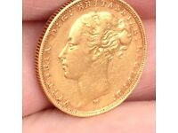 GOLD SOVEREIGN YOUNG HEAD 1882