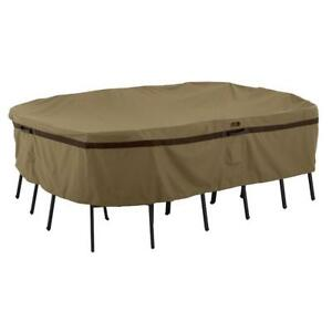 New Classic Accessories 55-213-042401-EC Hickory Rectangular/Oval Table and Chair Cover, Large, Tan