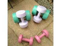 Set of Ladies Keep Fit Weights.