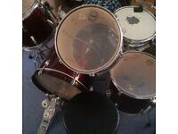 Tama drumkit and drumming stool for sale
