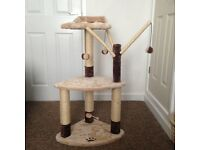 Cat scratching tower
