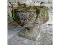 Vintage Weathered Garden Urns - 3 available