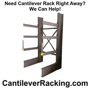 We stock regular duty structural steel cantilever racking - pipe racks - lumber racking - sheet metal rack