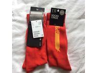 2 Pairs H&M Red Fancy Christmas Socks Half price sale RRP: £6
