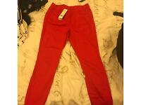 Red jeans size 14