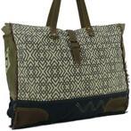 84d33d10665 Myra Bag Canvas Big Shopper met Leer Viviane