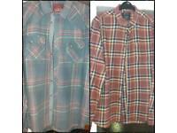 2 x shirts, Burton & SC. Size large