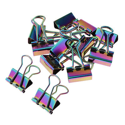 Binder Clips 12 Clamps Paper Clipsoffice Clips Suppliescolored Binder Clip