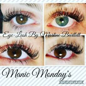 Classic Eyelash Extensions and Classic Flat Lashes