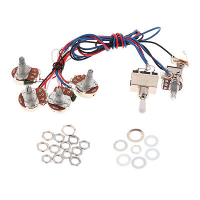 Electronic Circuit Wiring Harness for LP Les Paul Guitar Replacement White