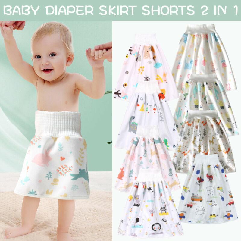 как выглядит Comfy Reusable Baby Diaper Skirt Shorts 2 in 1 Boys Girls Training Skirt AA фото