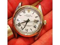1965 GENT'S VINTAGE ROLEX DATE GOLD AND STEEL WITH BUCKLEY DIAL 100% GENUINE