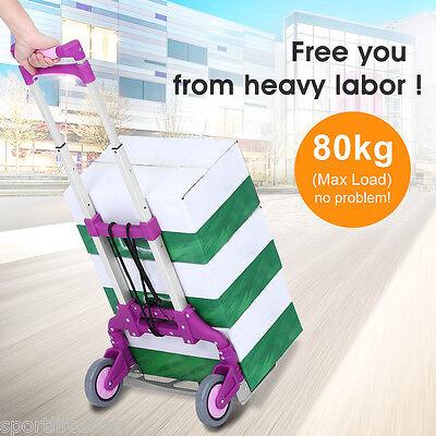 80KG Einkaufstrolley Einkaufswagen Roller Klappbar Einkaufshilfe Trolley Dolly