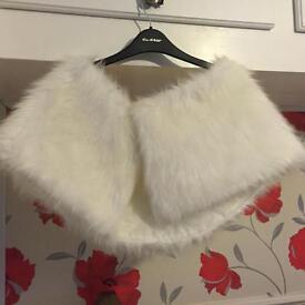 White fur stole