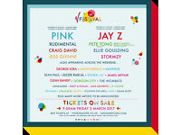 2 V FEST TICKETS (Tickets only) Hylands Park Chelmsford - P!nk Headlining - Saturday 19/08/17