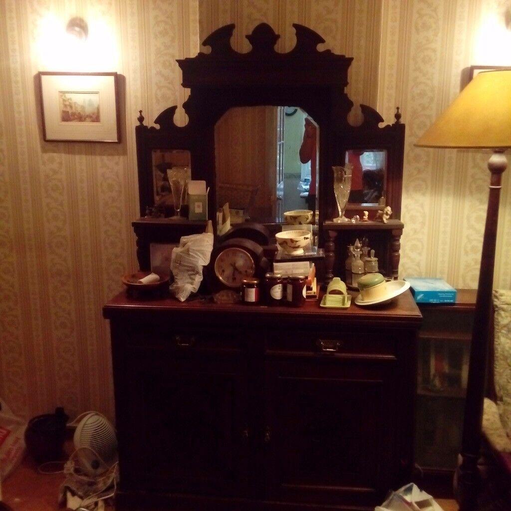 Dining Room Dresser In Dark Wood