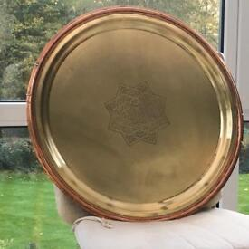 Vintage Brass/copper wall tray