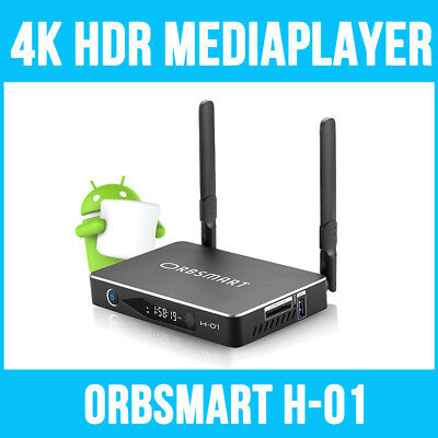 Orbsmart H-01 4K (Ultra HD) HDR & 3D Android Mediaplayer / Mini PC / TV Box