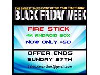 Amazon fire stick £50 also 4k android tv box £50