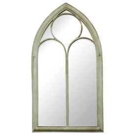 Two Large Arched Mirrors