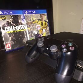 SONY PLAYSTATION 4 (PS4) SLIM - 500GB CONSOLE WITH FIFA 17 AND CALL OF DUTY INFINITE WARFARE