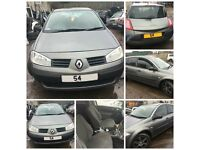 Renault Megane 5 door 2004 1.4 Grey NV603 Front Bumper All Parts Available