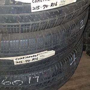 Set of four tires size 215 70 16 for sale